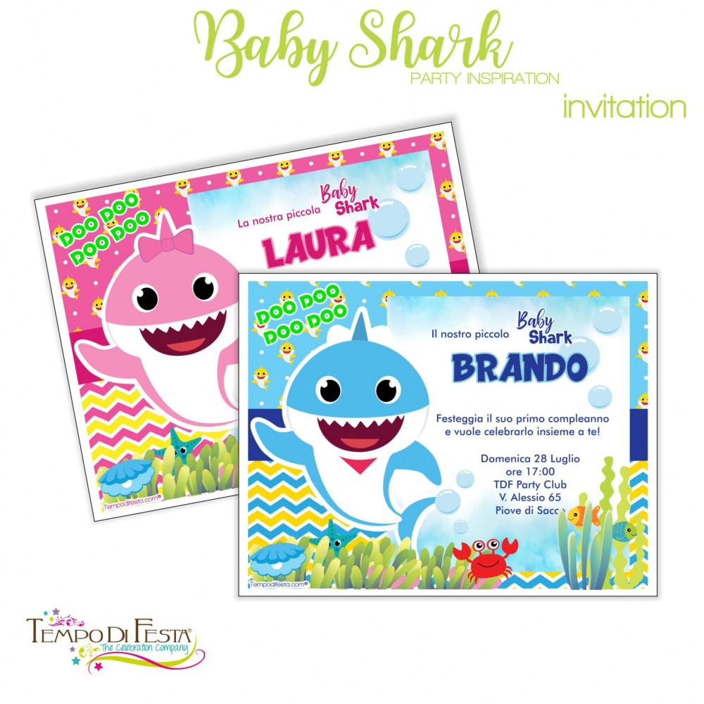 inviti a tema baby shark