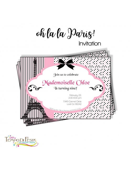 PARIS INVITACIÓN TEMÁTICA