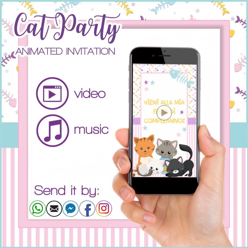 Gatitos Invitaciones Animadas Personalizzadas