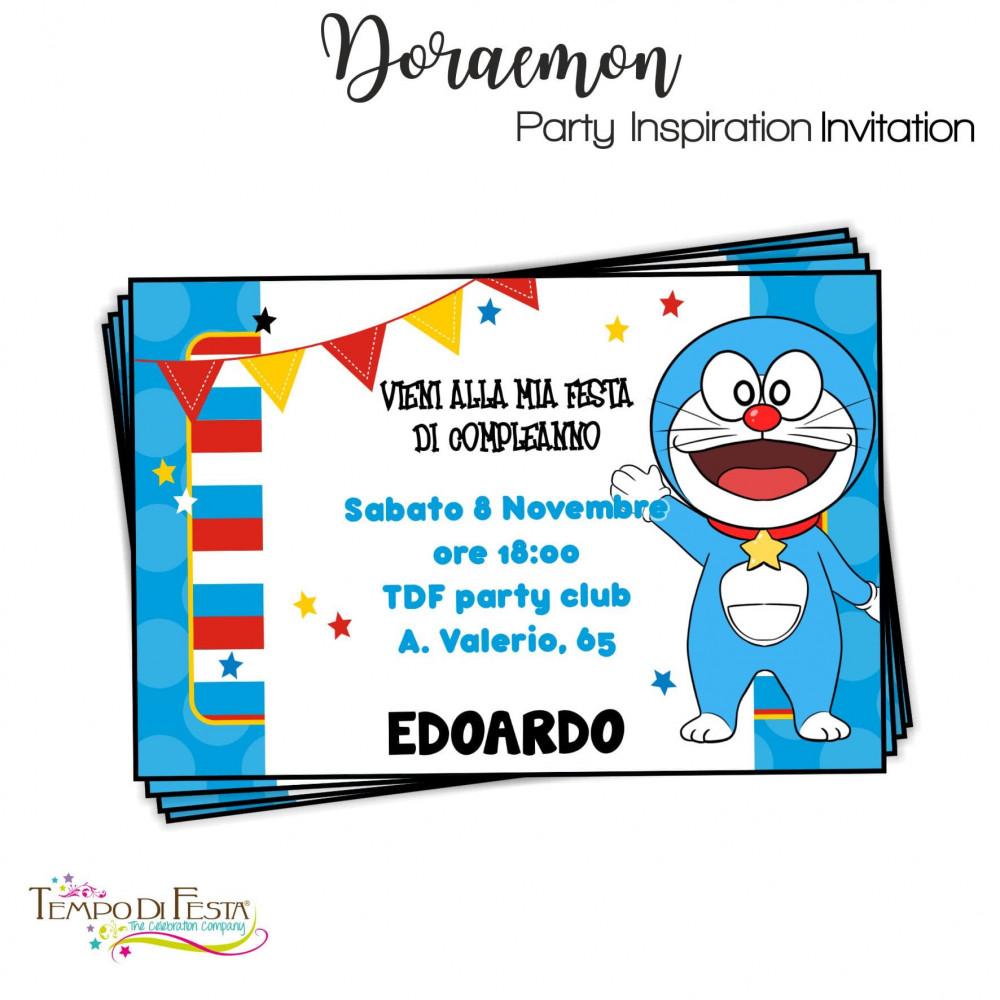inviti di compleanno doraemon