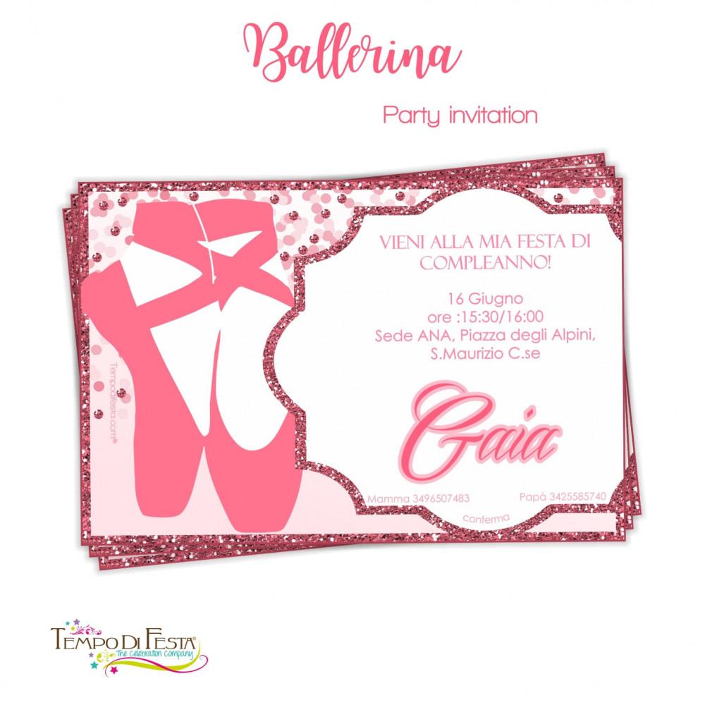 inviti di compleanno ballerina