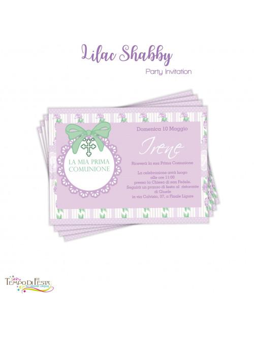 SHABBY LILA INVITACIONES