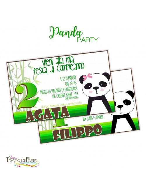 INVITI COMPLEANNO TEMA PANDA