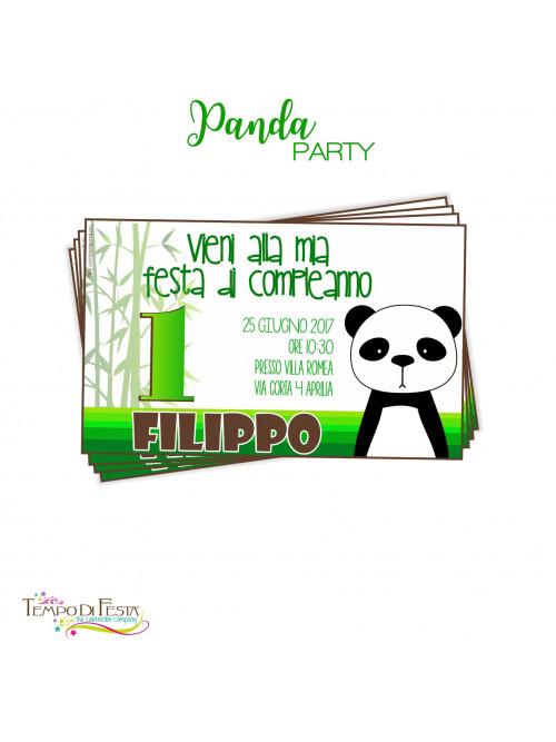 PANDA INVITACIONES TEMÁTICAS