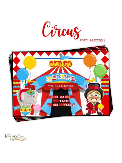 inviti a tema circo