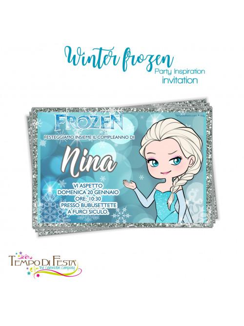 inviti di compleanno di elsa di frozen