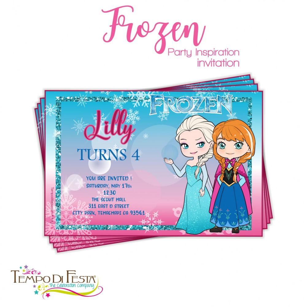 inviti di compleanno frozen