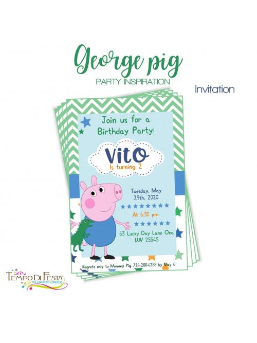 GEORGE PIG INVITACIONES