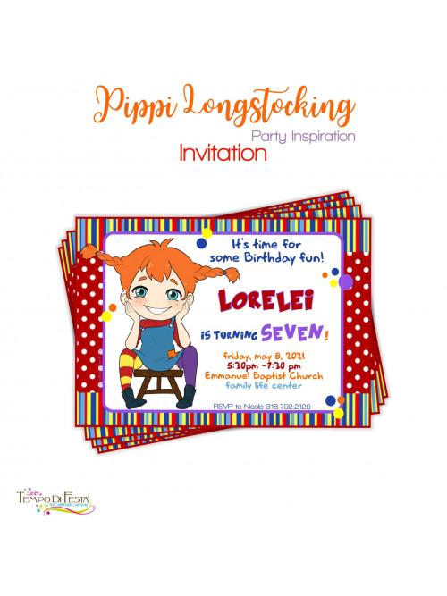 PIPPI LONGSTOCKINGS INVITATION