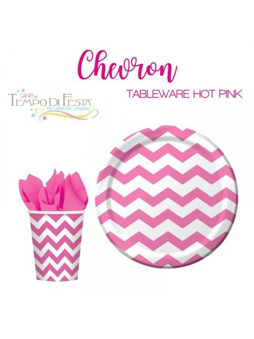 CHEVRON HOT PINK PAPER...