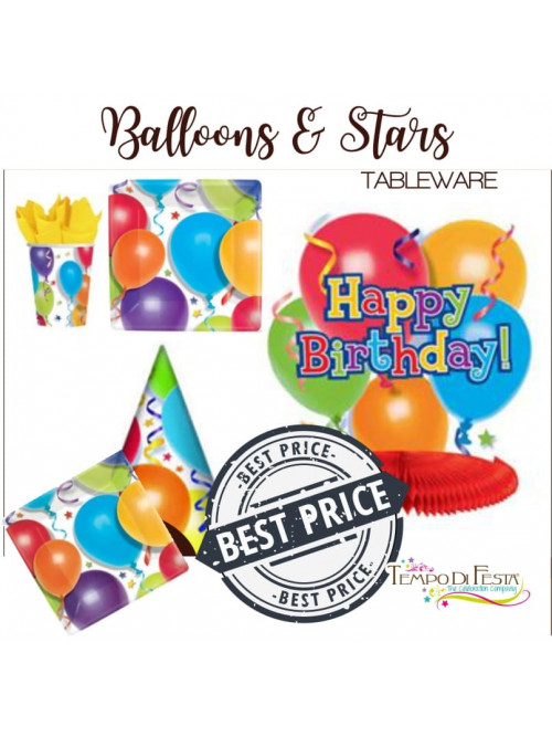 BALLOONS & STARS TABLEWARE