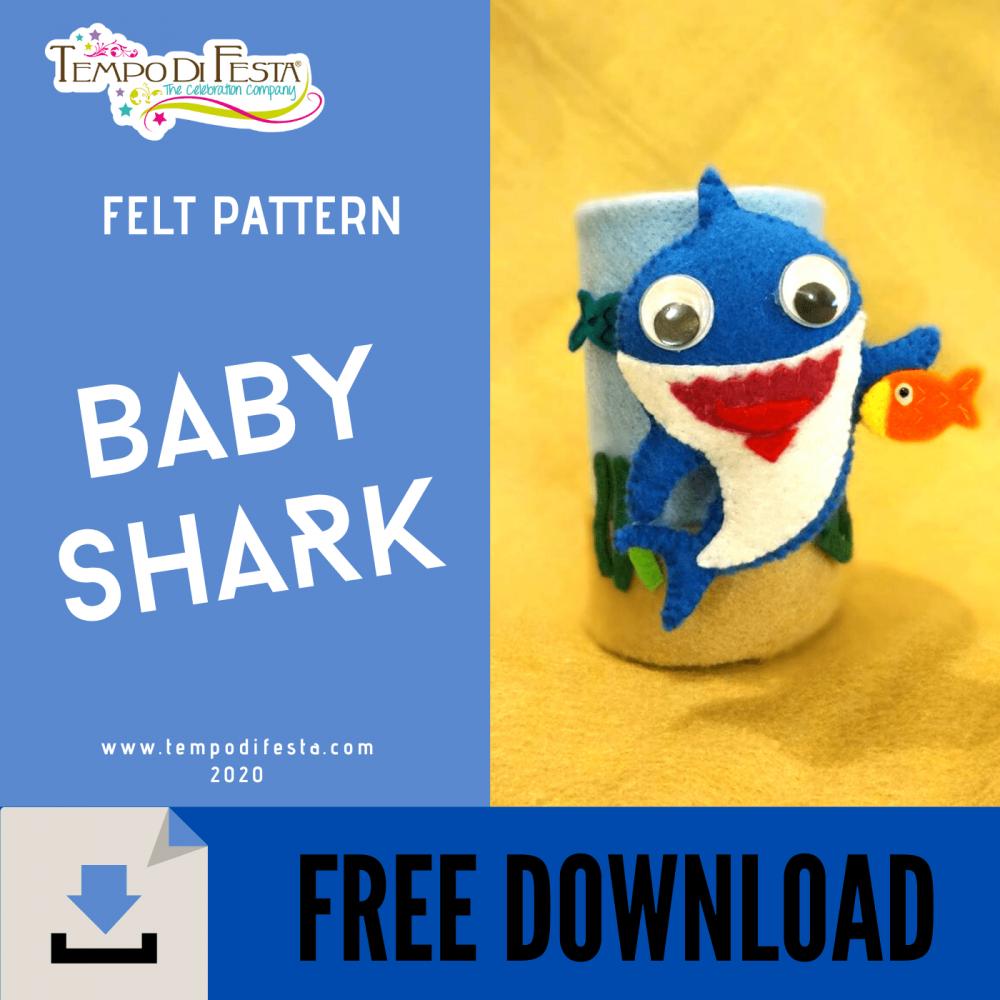 MODELLO DI BABY SHARK IN FELTRO