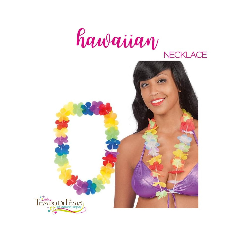 Multicolored Hawaiian necklace