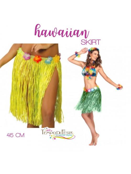 Falda hawaiana de 45 cm de largo