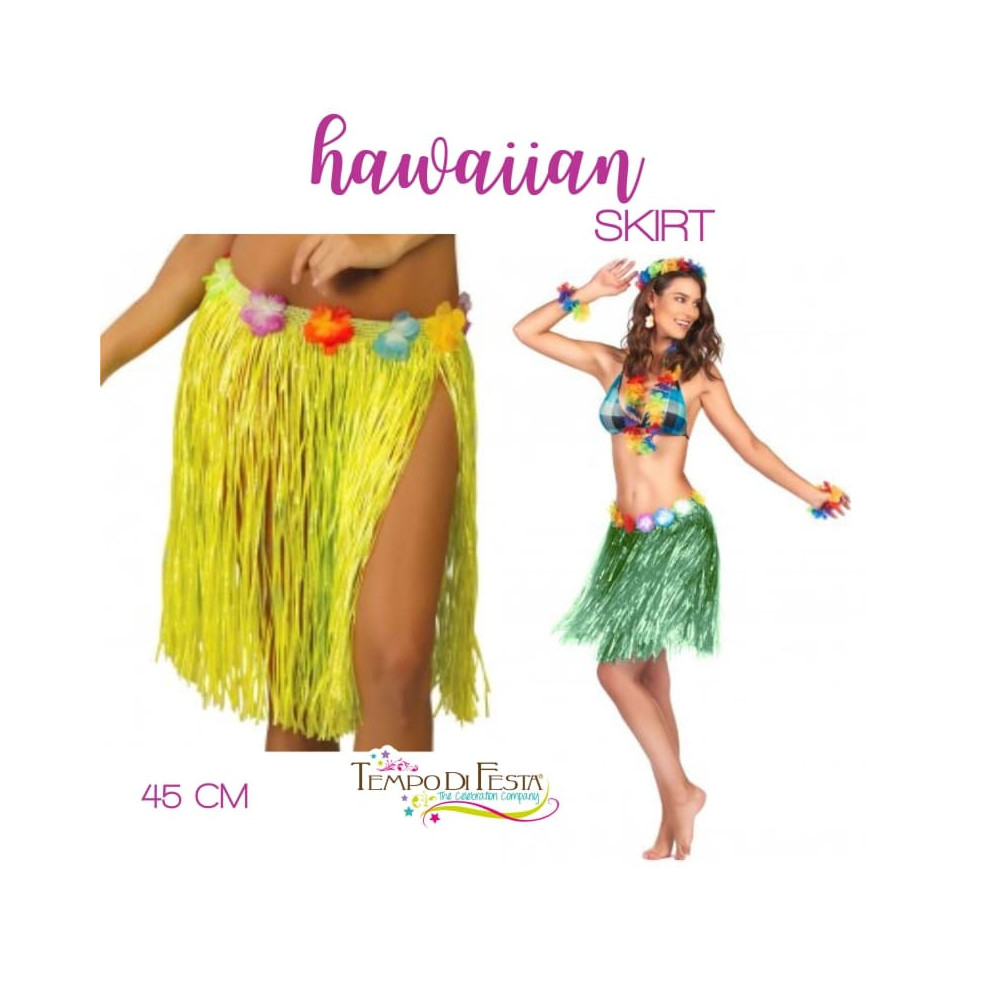 Hawaiian skirt 45 cm long
