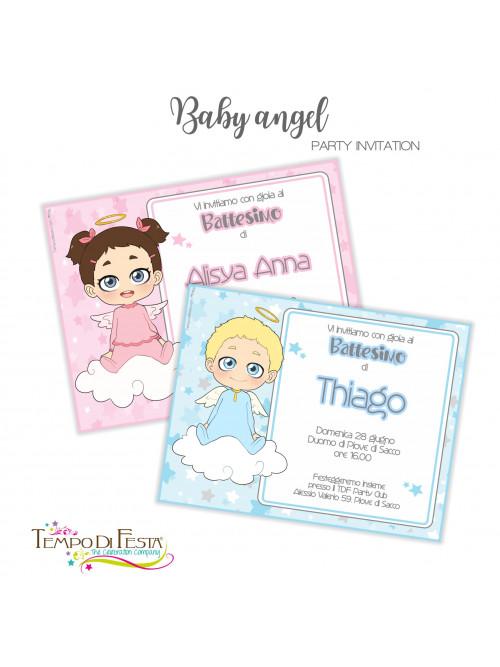 BABY ANGEL  INVITO RELIGIOSO
