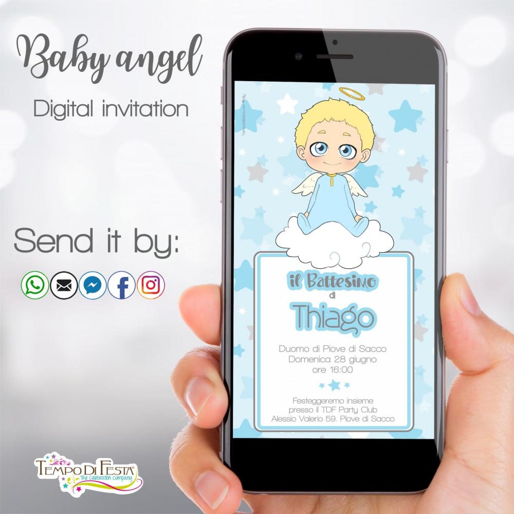 invito digitale whatsapp per battesimo