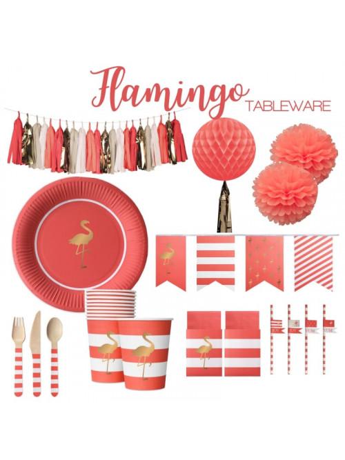 Coordinato per il tavolo e decorazioni Flamingo