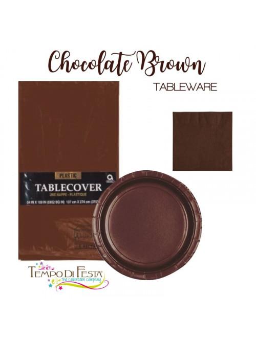 Cioccolatte marrone coordinato per il tavolo