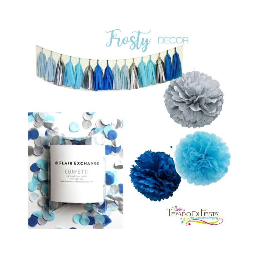 Frosty decorazione azzurro e grigio