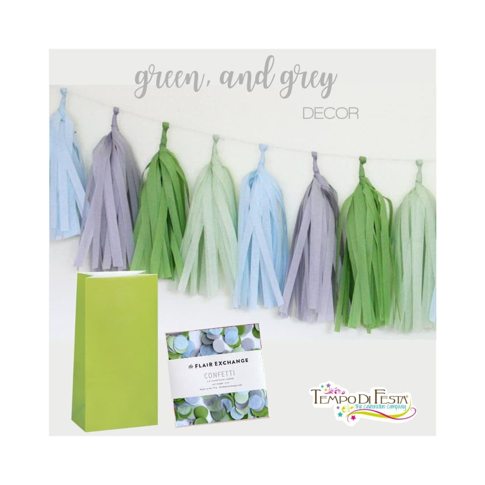 Green and Grey Decoration for the party