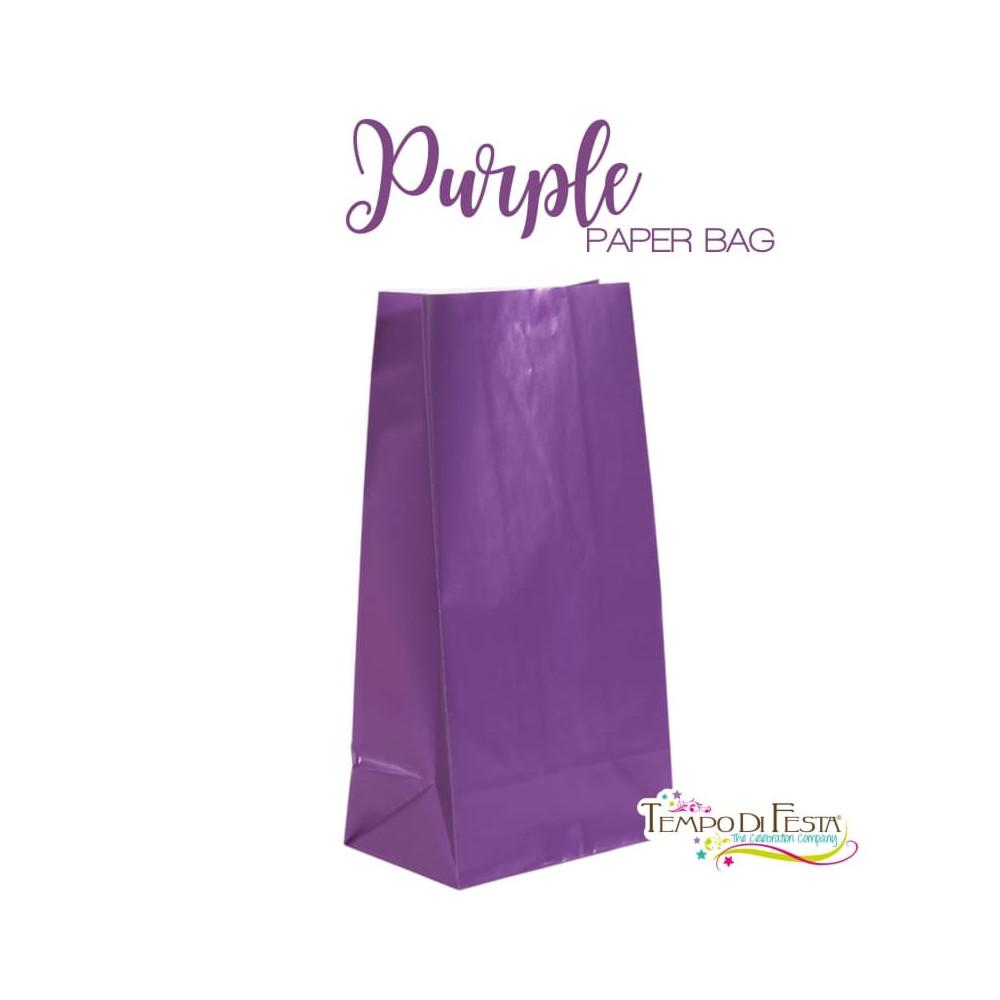 Purple paper bags