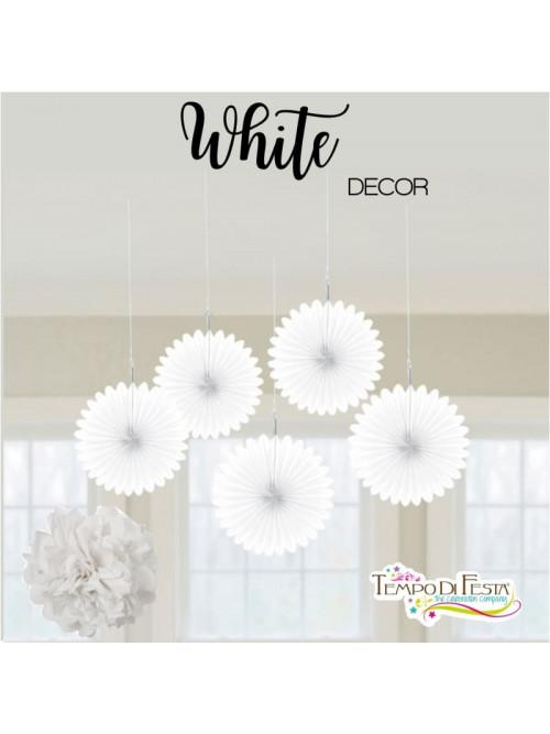 Decoración blanca para la fiesta