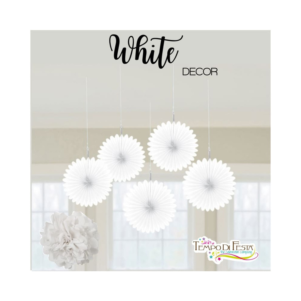 White decoration for the party