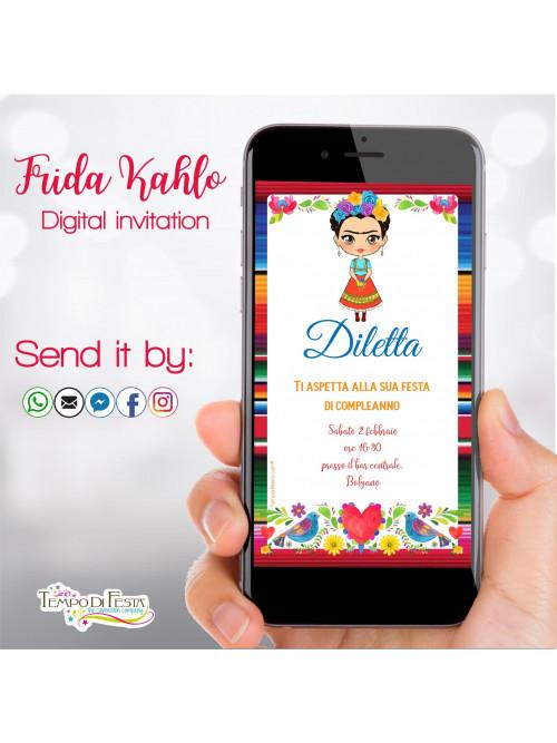 Frida Kahlo INVITO DIGITALE WHATSAPP