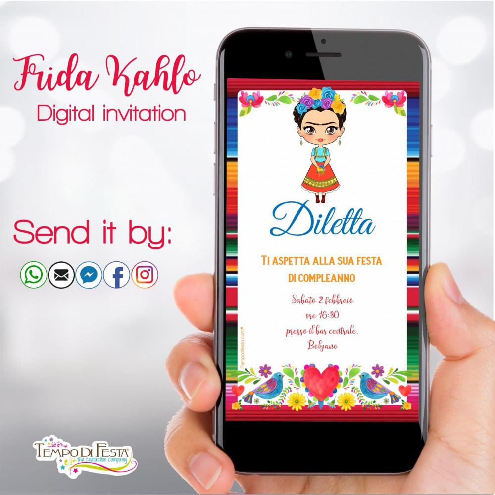 FRIDA KAHLO DIGITAL INVITATION WHATSAPP