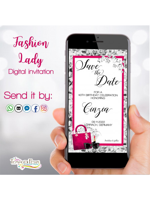 FASHION LADY INVITACIÓN DIGITAL WHATSAPP