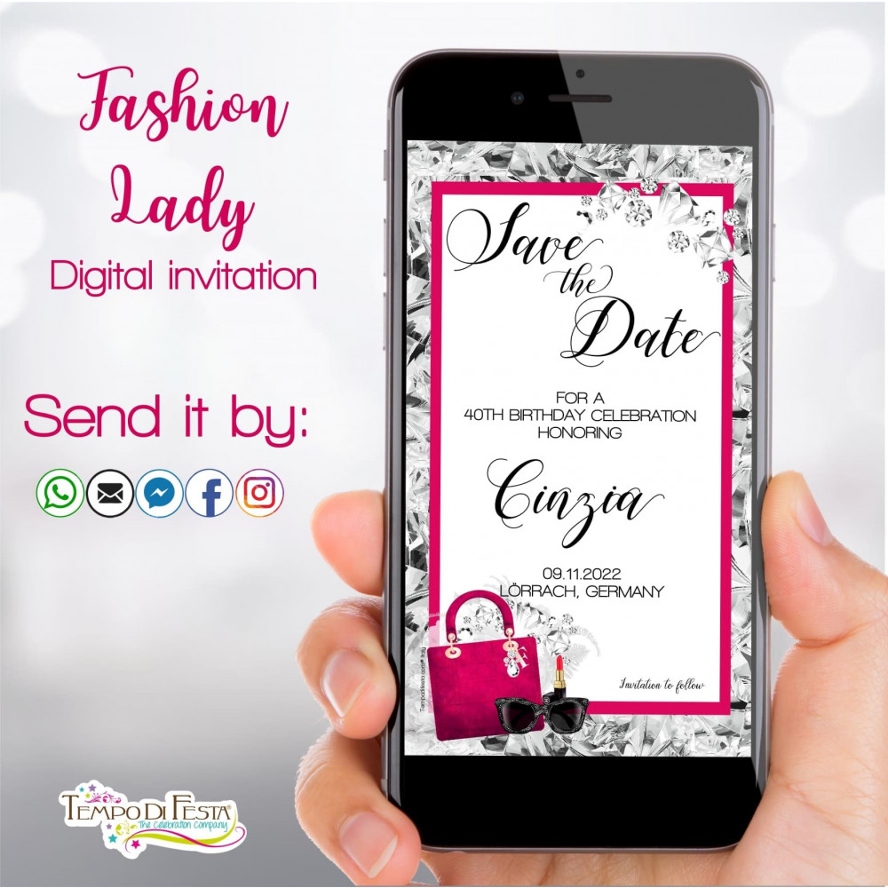 FASHION LADY INVITACIÓN DIGITAL WHATSAPP