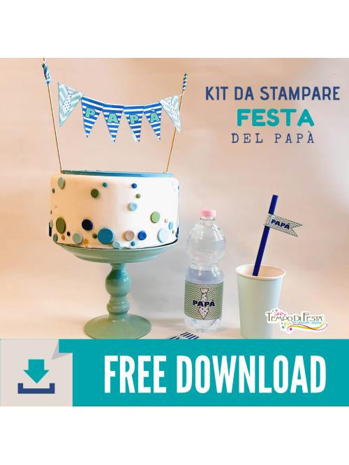 Kit para imprimir para el día del padre gratis