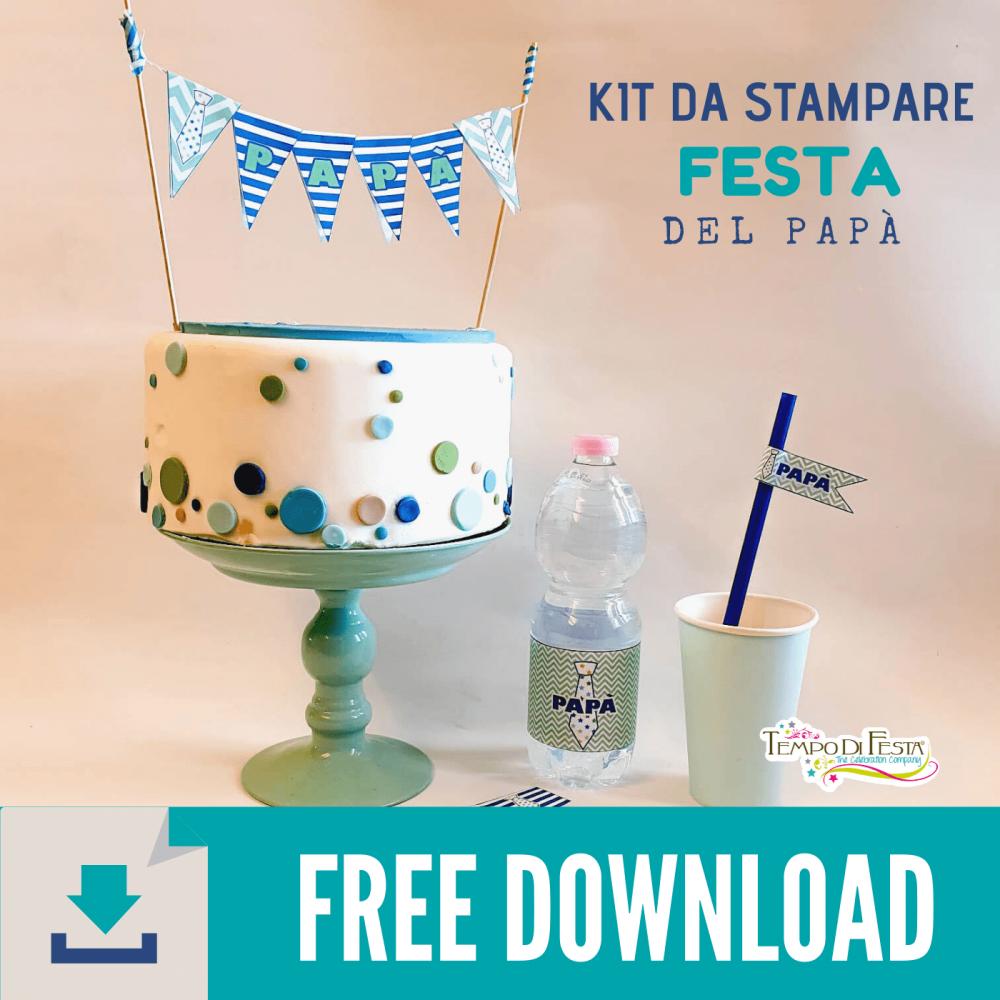 Kit da stampare per la festa del papà gratis