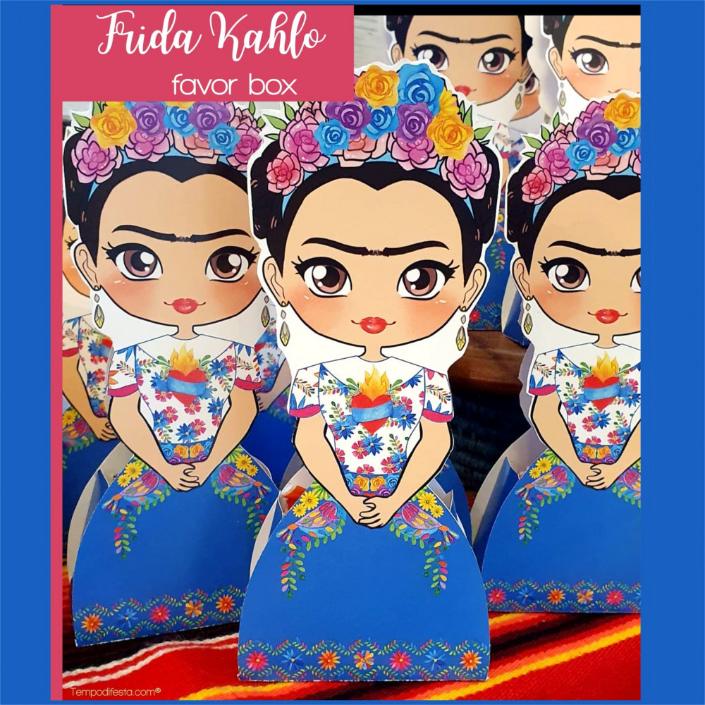 Cajita para dulces Frida Kahlo