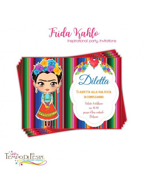 Invitaciones inspiradas en Frida Kahlo