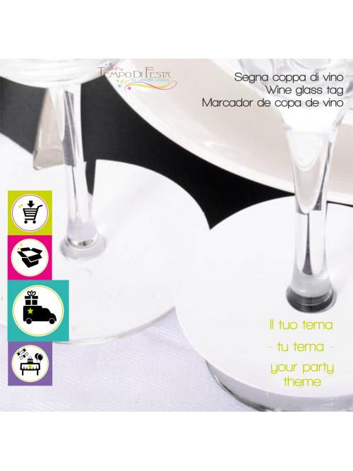 Marcadores de copa de vino personalizados