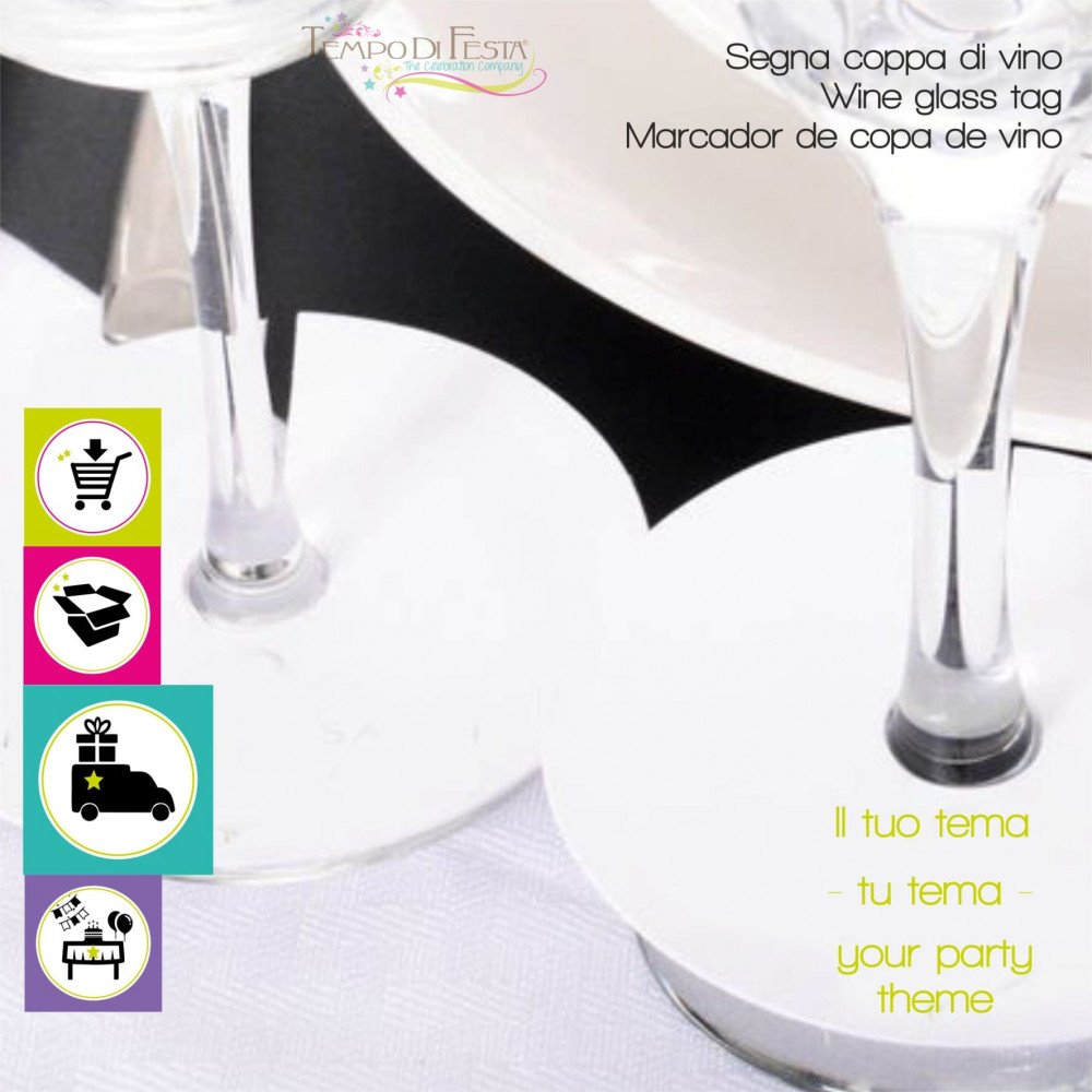 Wine glass tag themed customized