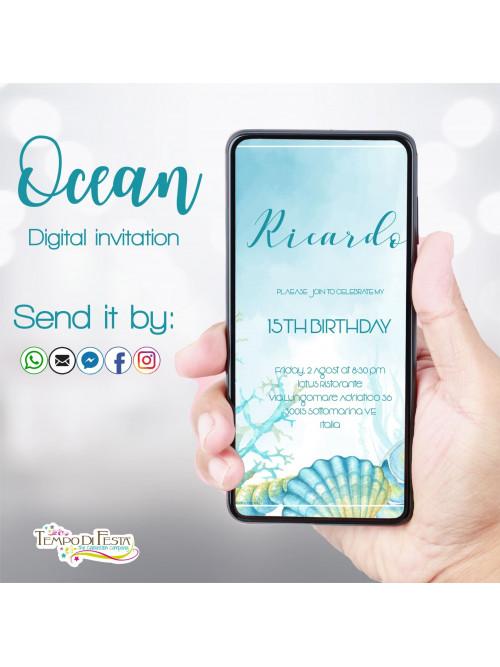 Ocean digital invitation whatsapp