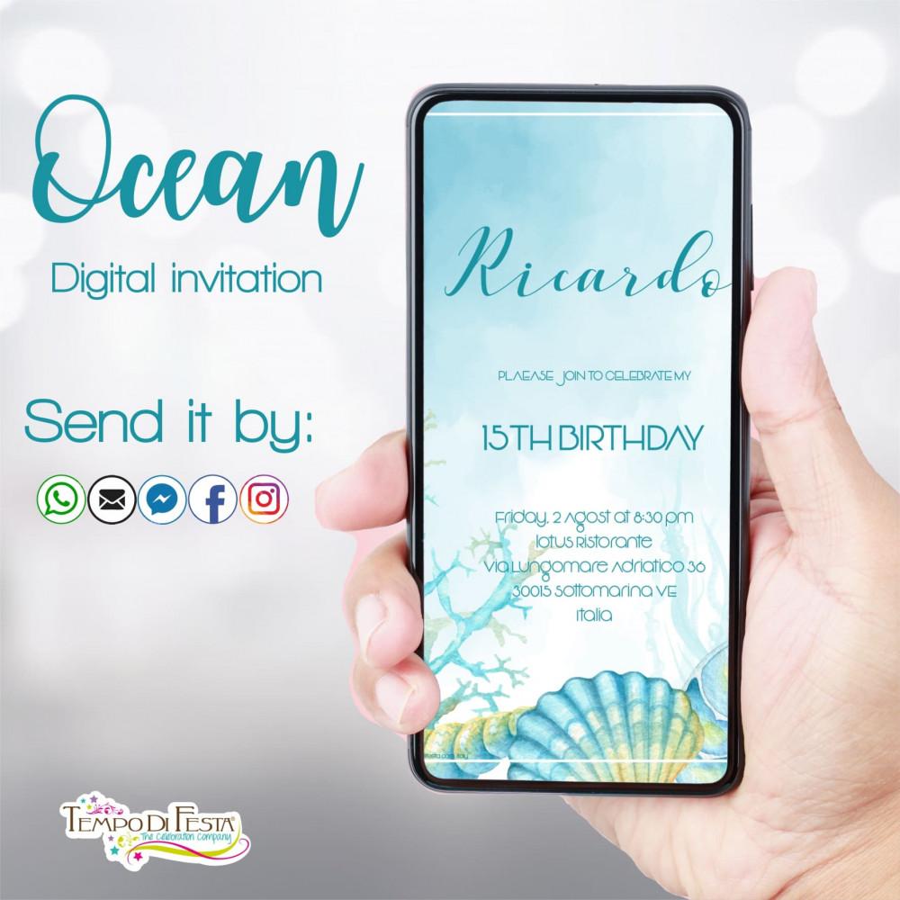 Océano invitacion digital whatsapp