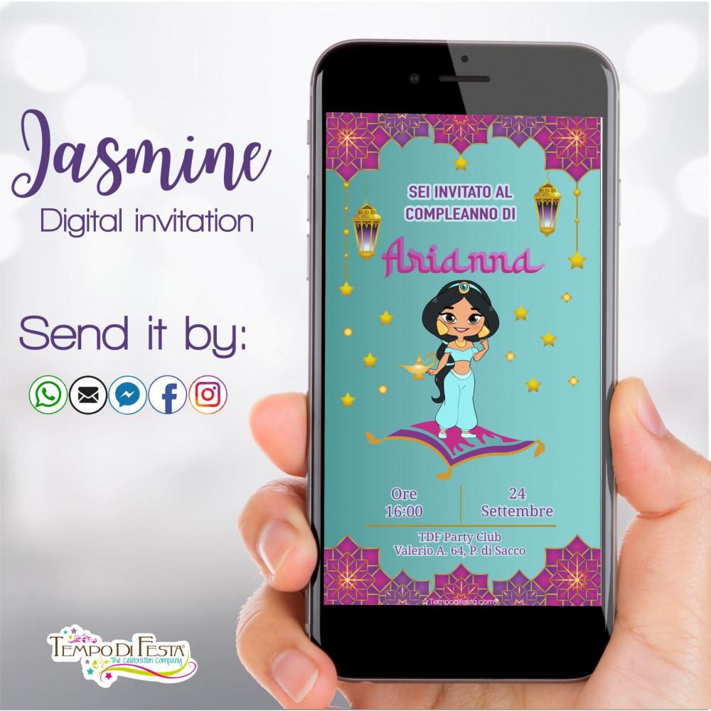 Jasmine digital invitation whatsapp