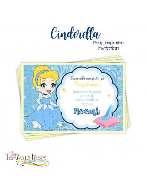 Invitaciones inspiradas en Cenicienta
