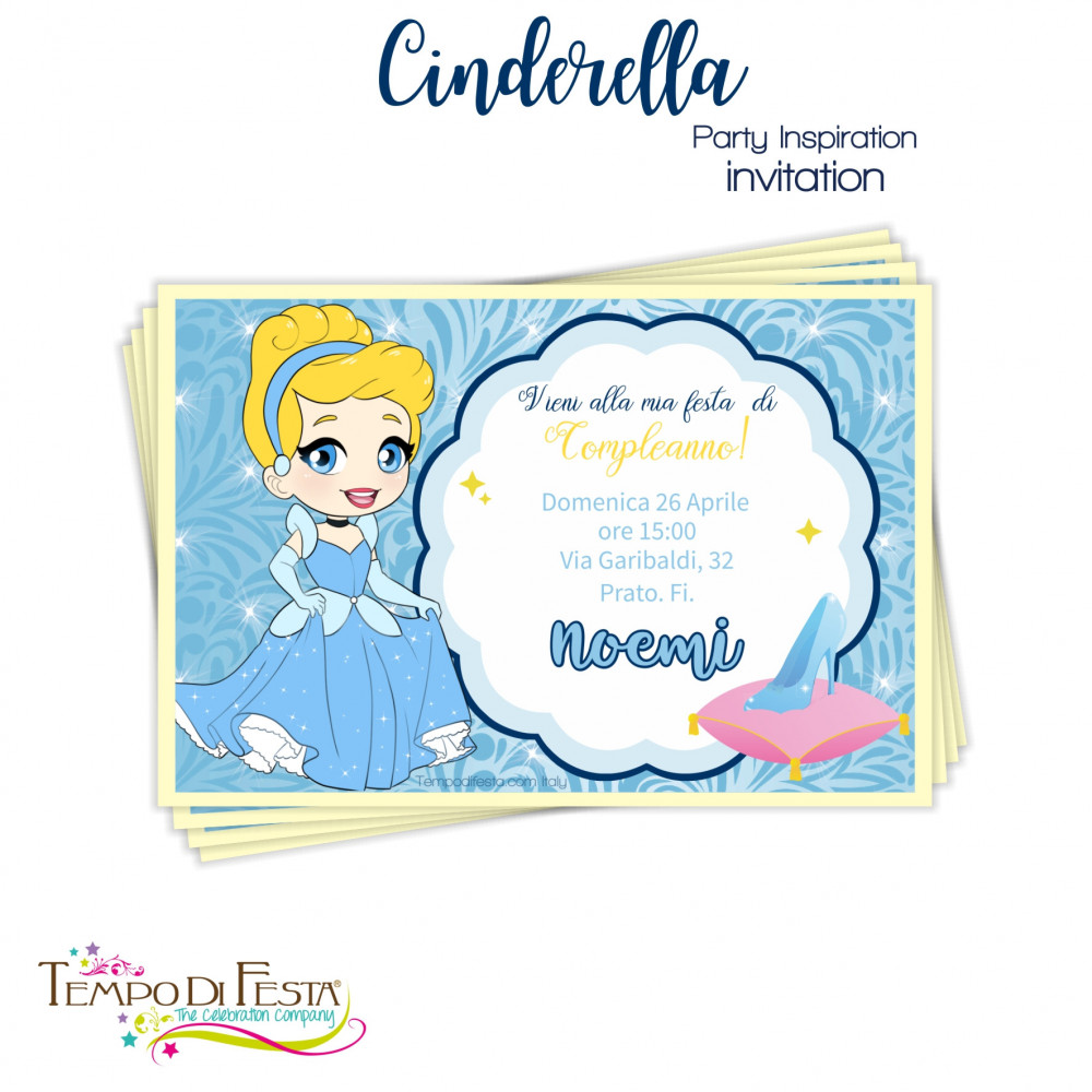 Cinderella inspired invitations
