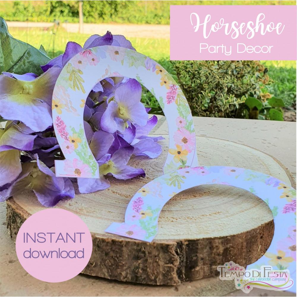 Horseshoe, party decoration. instant download.