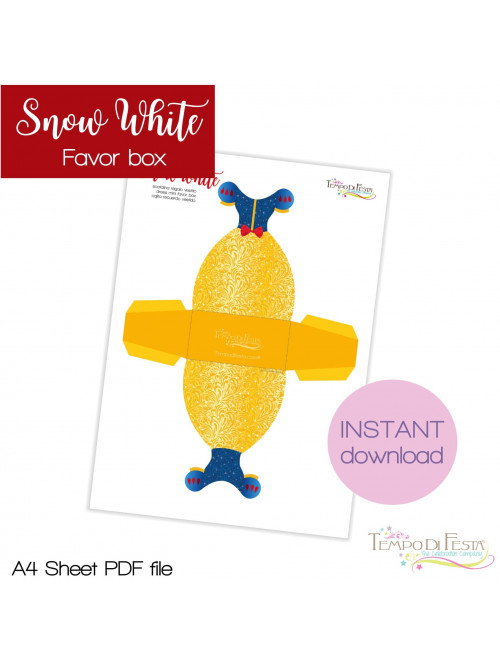 Snow white favor box