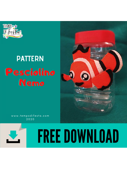 Modelo gratuito de pescado Nemo en fieltro