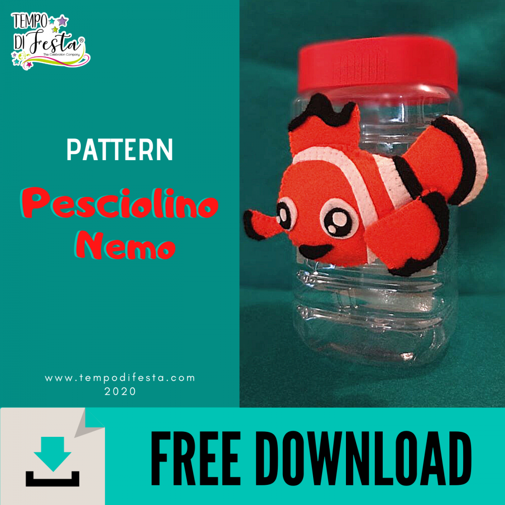 Free model of felt Nemo fish