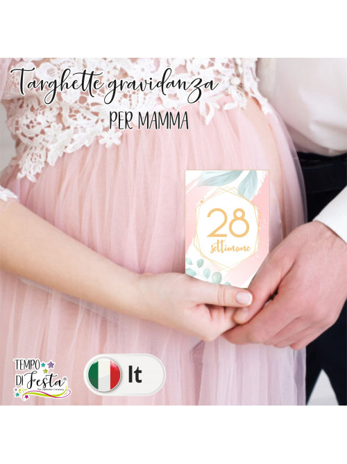 Tarjetas para embarazo tema romántico moderno en ITALIANO