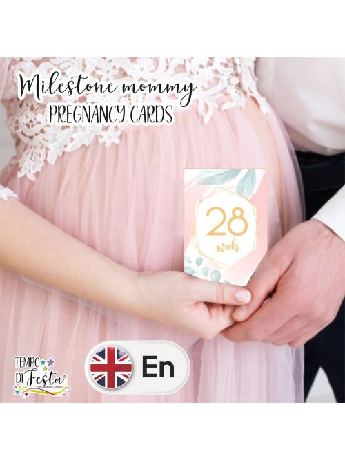 Tarjetas para embarazo tema romántico moderno en INGLES