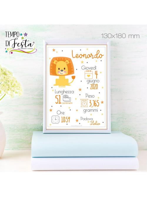 Cuadro Imagen de nacimiento temática león.